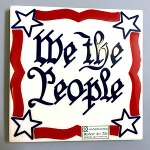 "American Flag Tile ""We The People"" New"